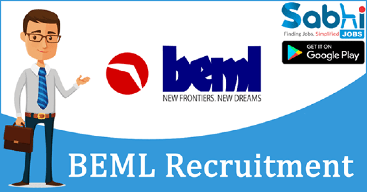 BEML recruitment Sr. Manager, Assistant Manager and Engineer