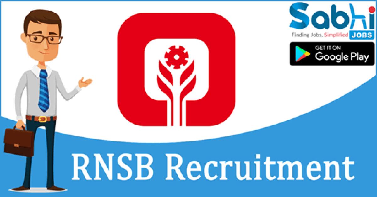 RNSB recruitment Jr. Executive (Trainee)