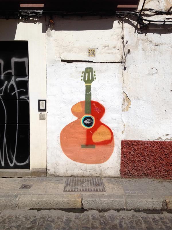 Gitarren-Graffiti Sevilla