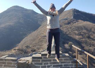 jump at great wall