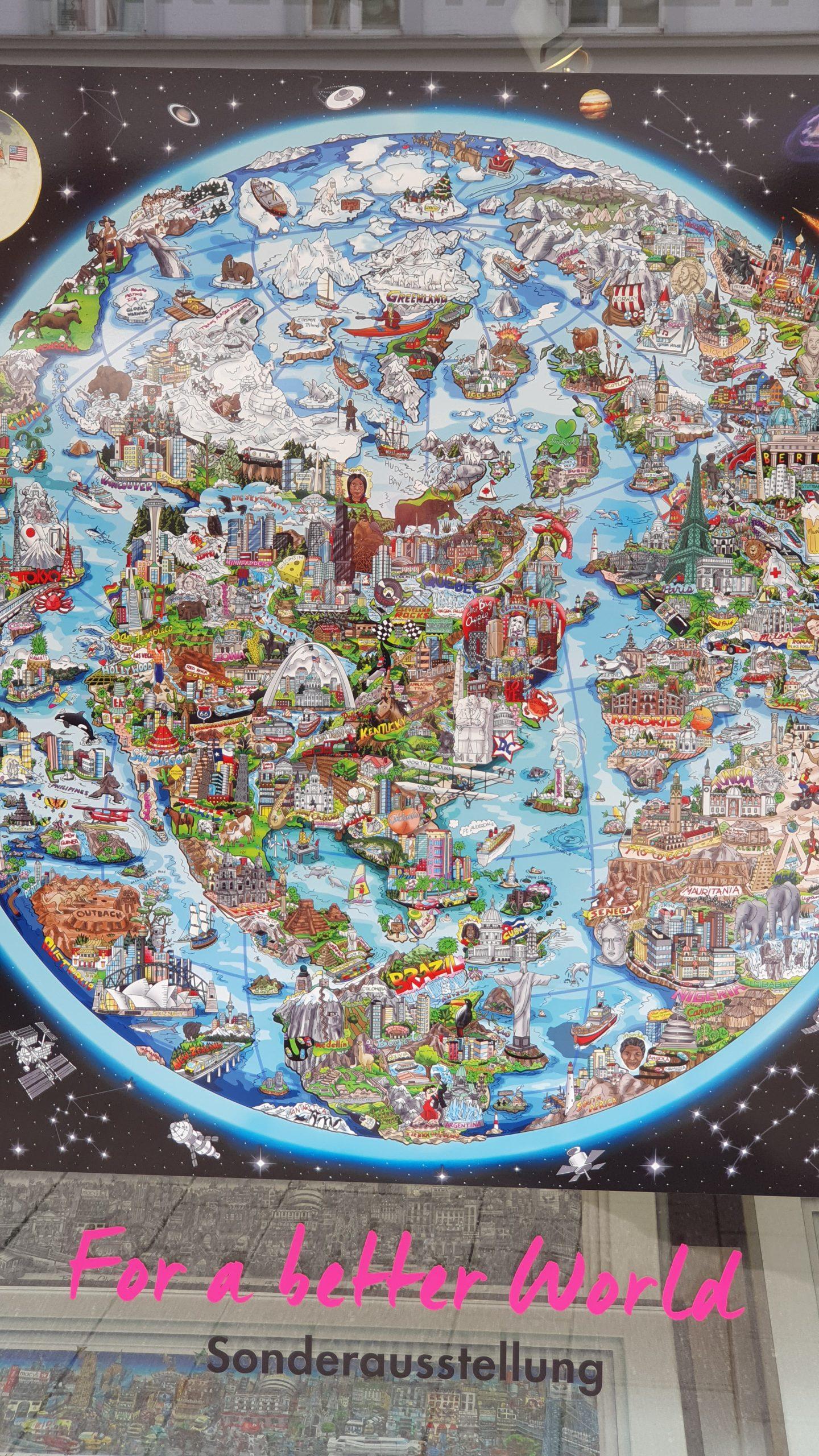 grafische wereldkaart