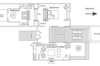 Lion Sands Ivory Lodge Suite Layout