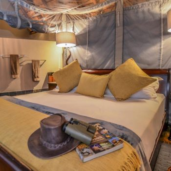 Nkorho Bush Lodge Accommodation Chalet Bed