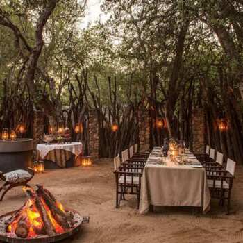 Dulini Lodge Dining Boma Fire