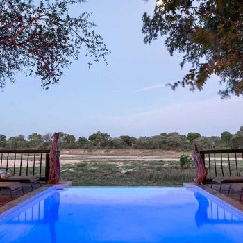 Umkumbe Safari lodge Pool Safari View