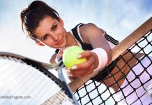 girl with table tennis