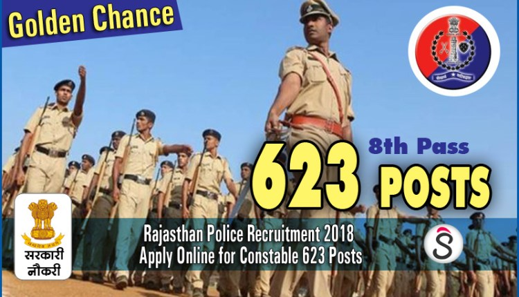 Rajasthan Police Recruitment 2018 Apply Online for Constable 623 Posts 1