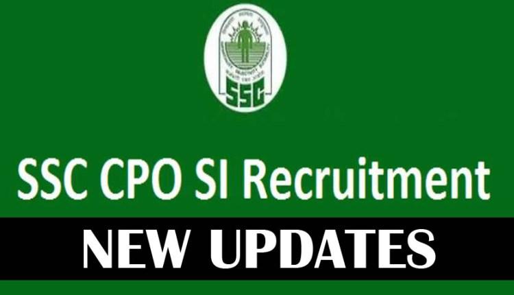 ssc cpo exam 2018 notification