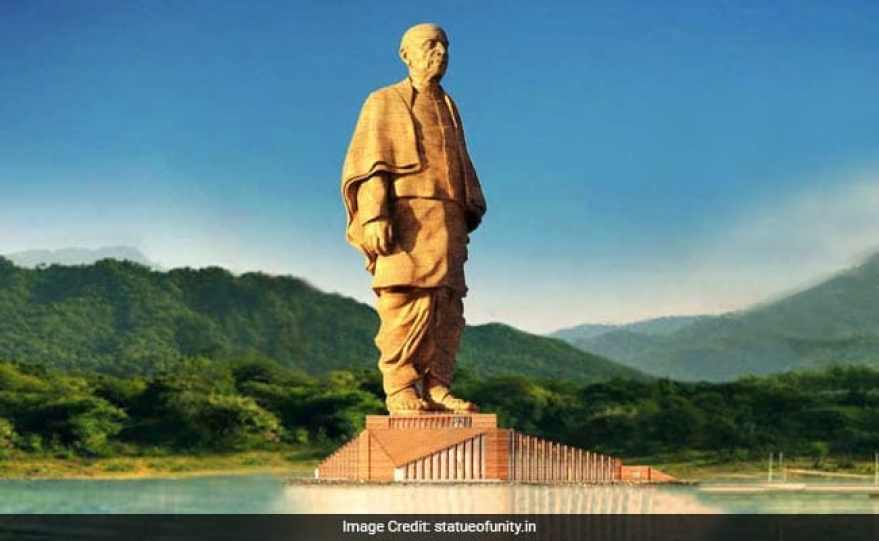 Go to see the Statue of Unity in India, Gujarat.