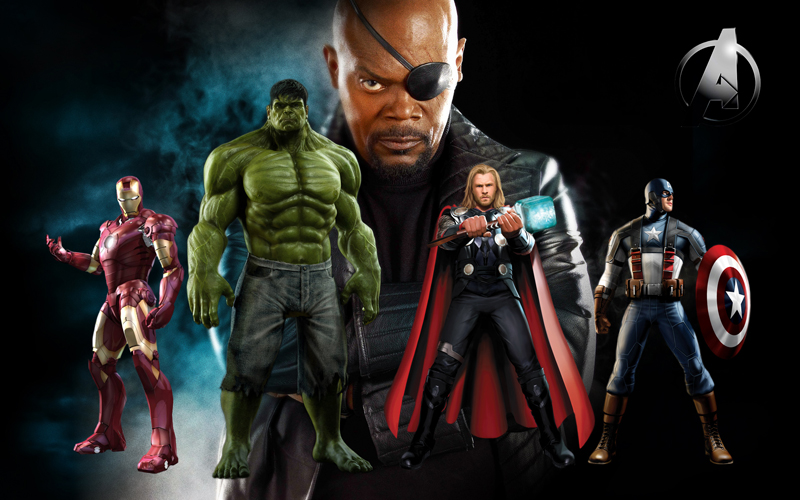 Do you know why the eyes of the Avengers series Nick Fury is broken