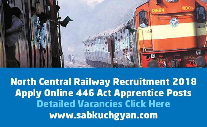 North Central Railway Recruitment 2018