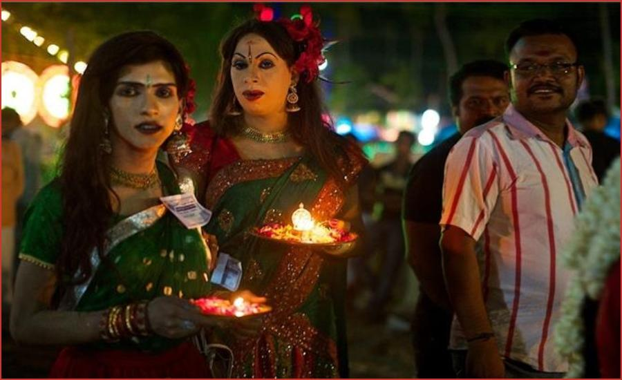 This temple of Kerala is performed by men in the strange tradition of becoming a woman