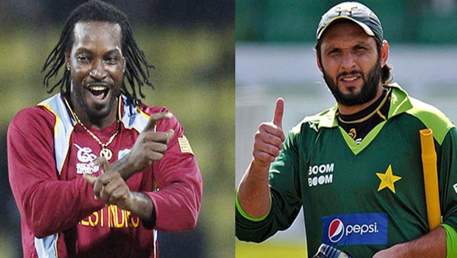 WIVSENG Chris Gayle created a new world record broken Pakistani cricketer Afridi's record (4)