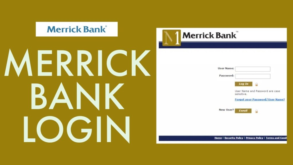 Merrick Bank Online Banking Account Login Portal - merrickbank.com/login