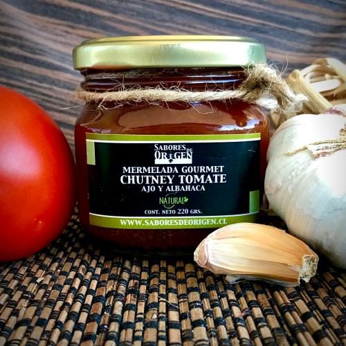 Chutney tomate y albahaca orgánico