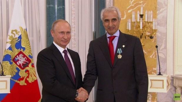 الرئيس الروسي فلاديمير بوتين والعضو المنتدب في الهيئة العامة للاستثمار بدر السعد