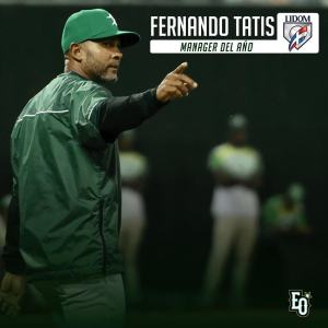 2484970f15f Former major-leaguer Fernando Tatís was named manager of the year for his  work leading Estrellas Orientales.