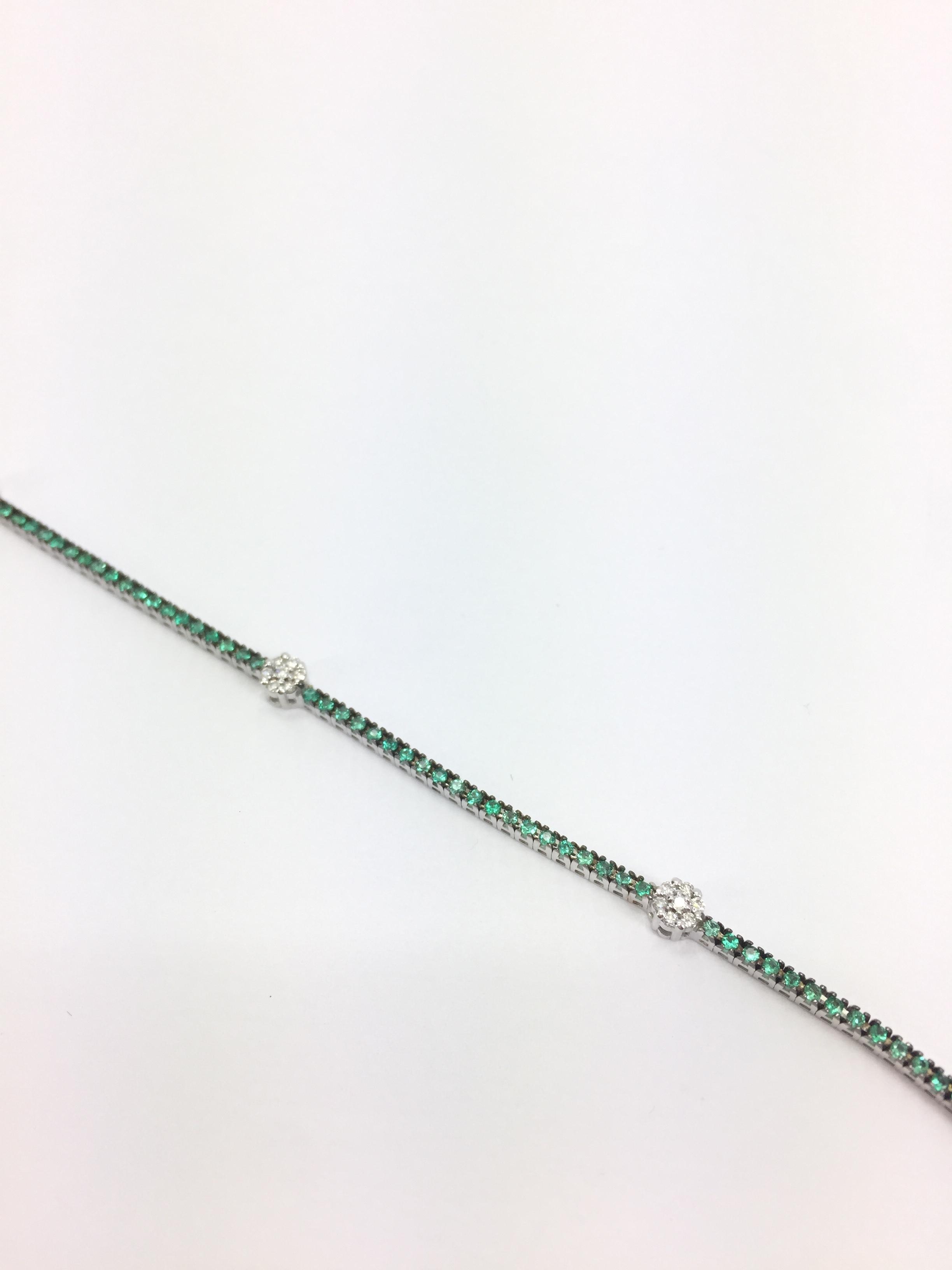 l'ultimo 61ebd 3ff17 Tennis smeraldi e diamanti