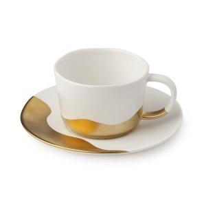 Set da 2 tazzine da caffè in porcellana avorio
