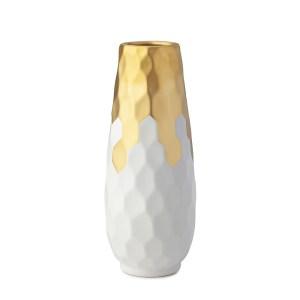 Vaso porcellana avorio e oro