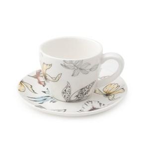 Set da 2 tazzine da caffè in porcellana blooms