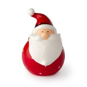 Contenitore Babbo Natale porcellana