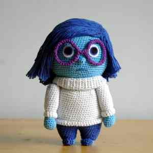 Crochet pattern Sadness- Inside Out - Amigurumi