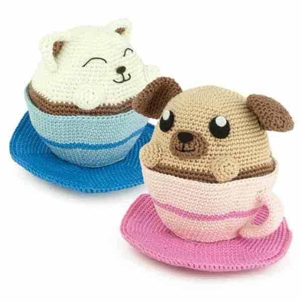 Crochet pattern Coffee Pets