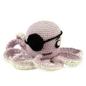 Crochet pattern Pirate Octopus - Amigurumi