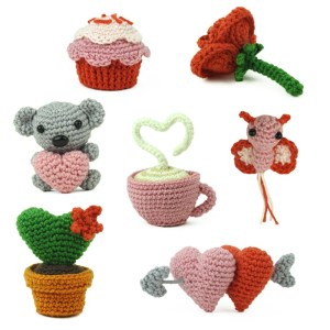 Patron au crochet Minis de la St Valentin - Amigurumi