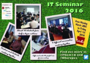 The seminar poster