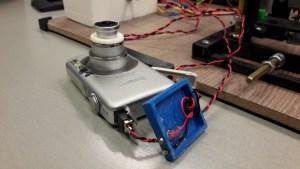 Camera with printed battery mockup