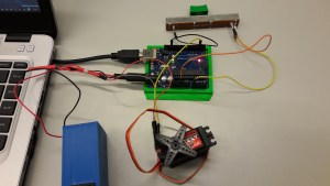 Arduino and potentiometer and servo