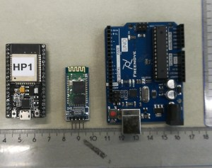 ESP32, Bluetooth adapter, and Arduino Uno