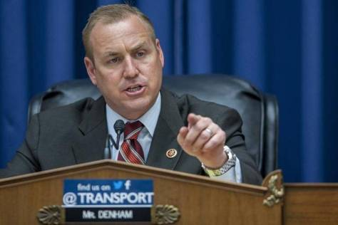 Rep. Jeff Denham, chairman of the House Transportation Subcommittee on Railroads, Pipelines and Hazardous Materials, questions a witness last year.