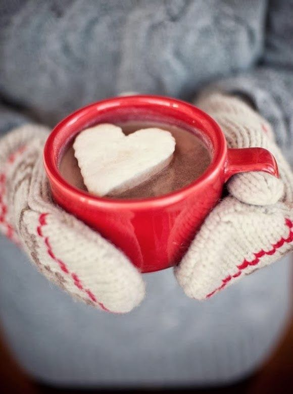 Hot chocolate with heart marshmallow