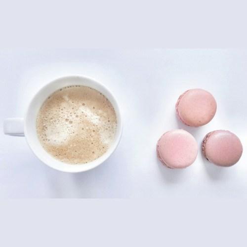 coffee, macarons, laduree, coffee and macarons, i love coffee, coffee cup
