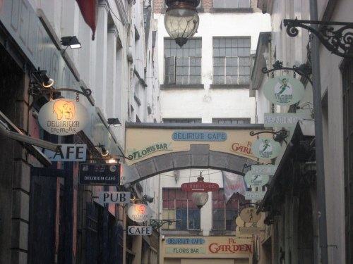 delirium village, delirium cafe, beer brussels, floris bar, absinth, what to do in brussels