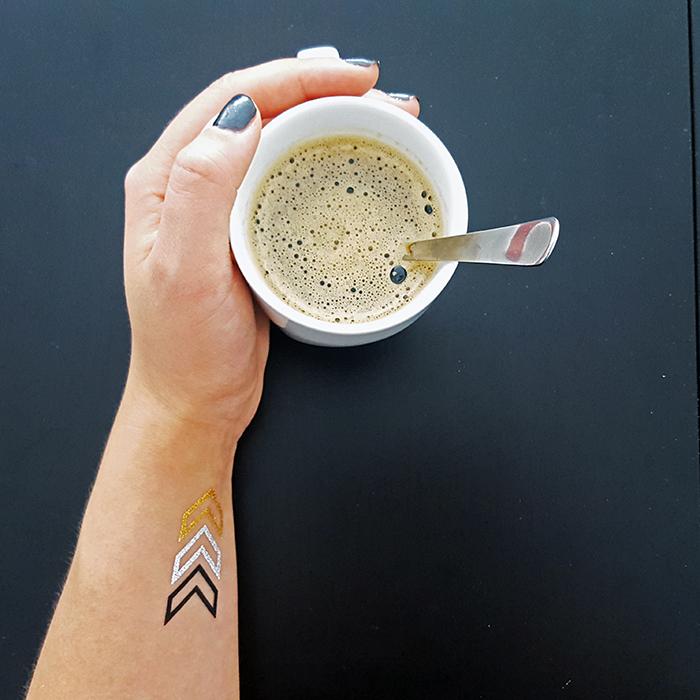 arrow flash tattoo coffee