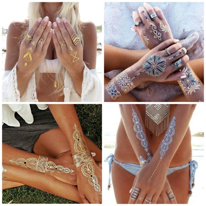 flash tattoos collage