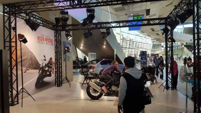 BMW Welt Munich motorbike Mission Impossible