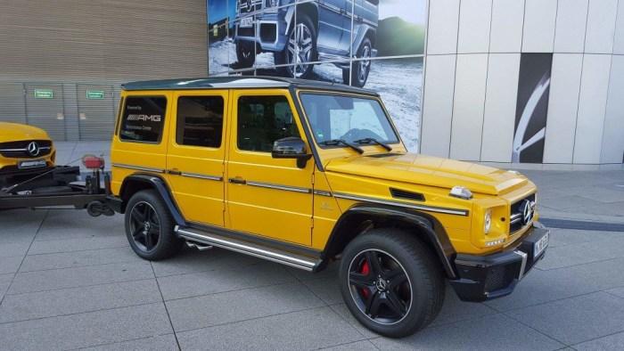 Mercedes Benz Munich AMG yellow _