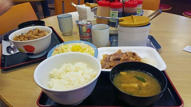 set meal with beef matsuya