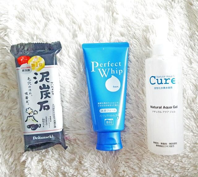 charcoal soap, cleansing foam, cure aquagel Japanese beauty