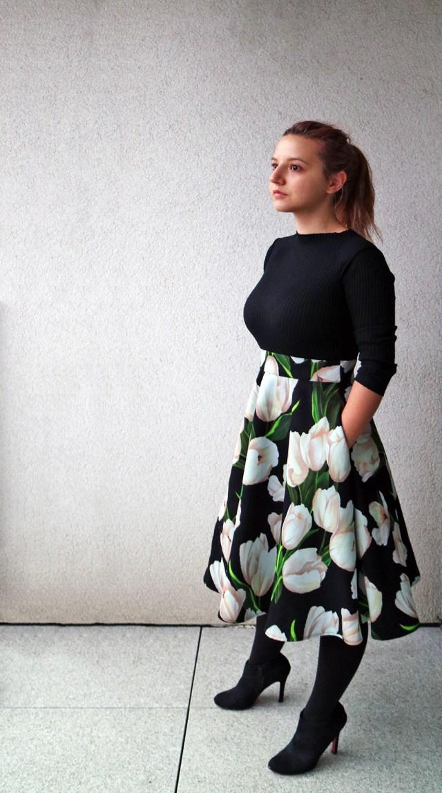 elegant high waisted dress