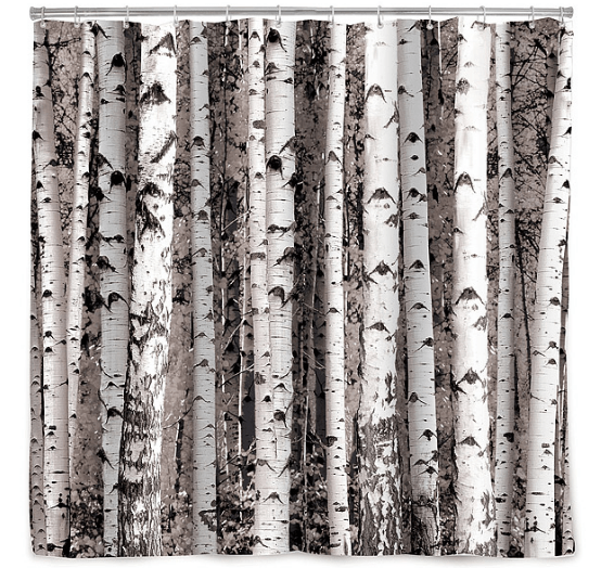 Uncommon Goods_Valentines Day Gifts_Birch Forest Shower Curtain