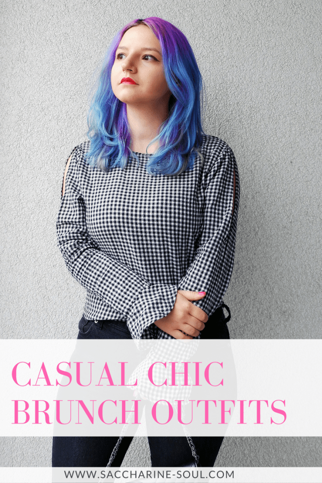 casual chic outfit for brunch