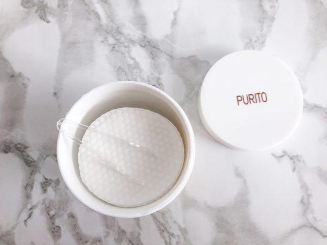 korean skin care routine summer_purito_mild pads closeup