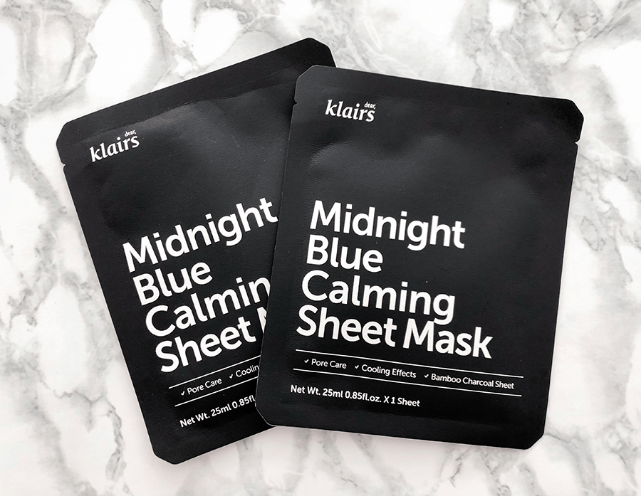 klairs midnight blue calming cream and sheet mask_2