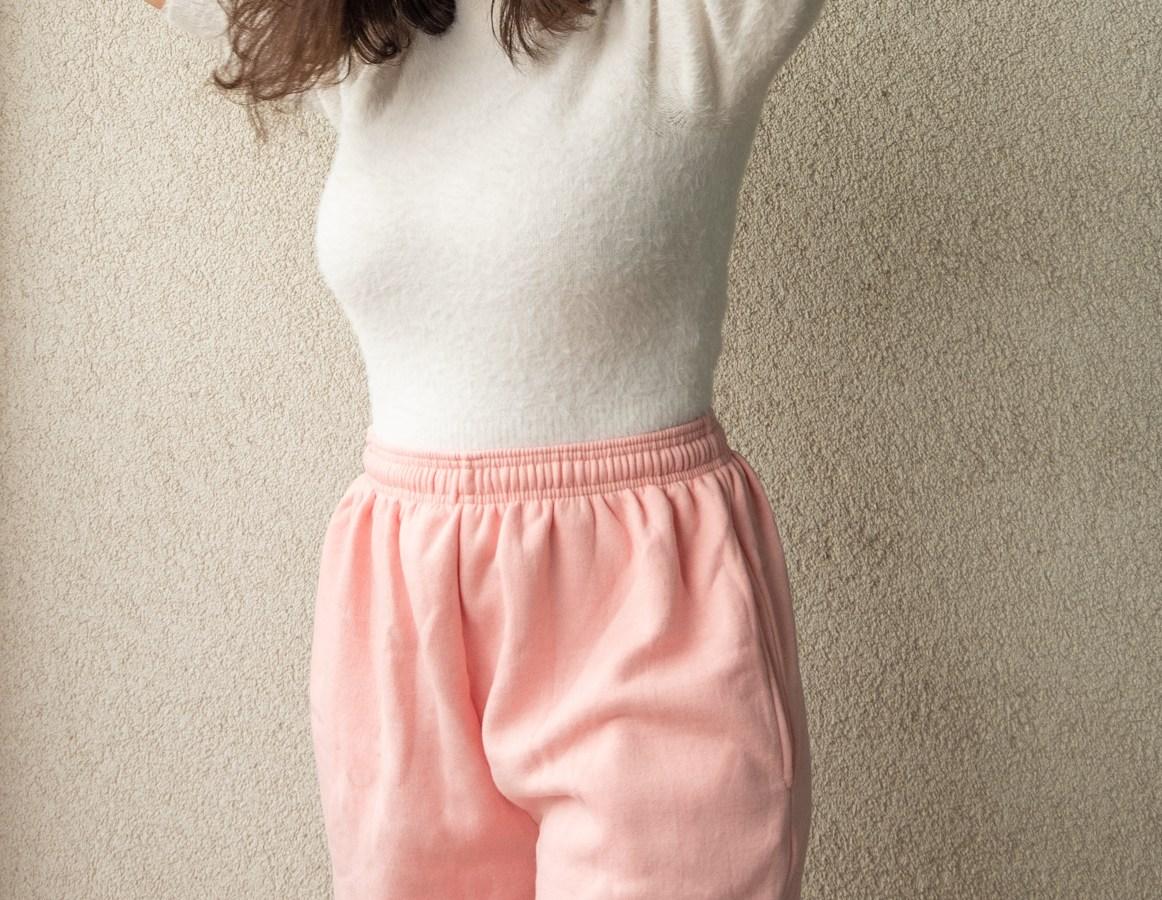 Women's petite sweatpants with pockets